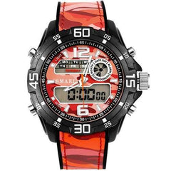 SMAEL 1077 Men Military Luminous Dual Display Digital Watch