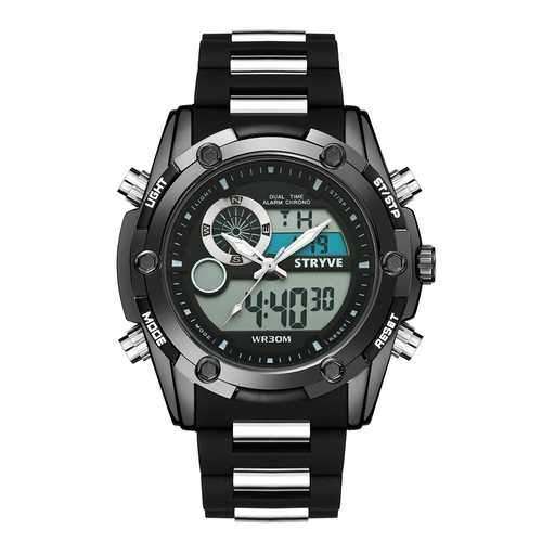 STRYVE S8006 Luminous Chronograph Dual Display Digital Watch