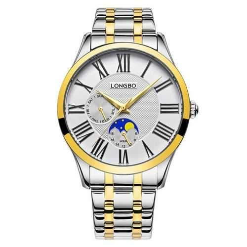 LONGBO 5013 Fashion Calendar Full Steel Quartz Watches