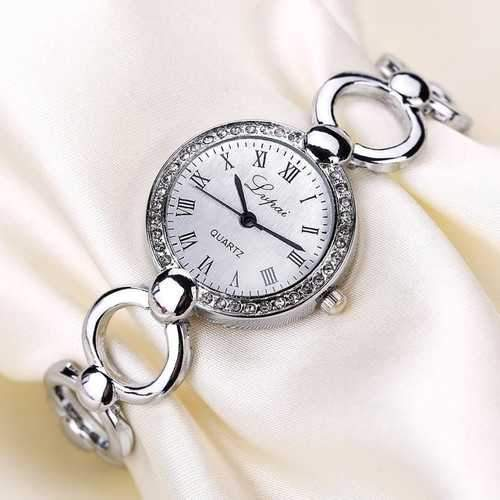 LVPAI Vintage Bracelet Watch Casual Crystal Quartz Watch