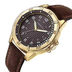 CRRJU 2113 Waterproof Casual Style Leather Strap Men Watch