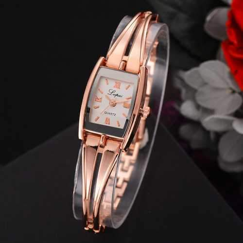 LVPAI Casual Style Full Steel Women Bracelet Watch