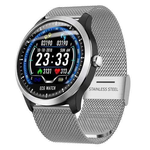 N58 Smart Watch Sports Bracelet - Silver Stee