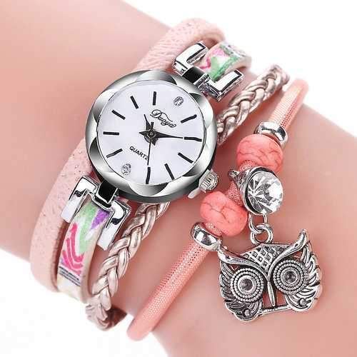 Bohemian Owl Multilayer Watch