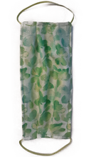 Load image into Gallery viewer, Face Mask with Butterflies Sparkle and green with swirls Reversible Handmade Washable Reusable Cotton