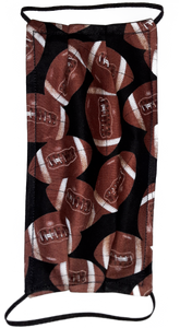 This is 1 face cover (reversible with the same pattern on both sides): Footballs on both sides.