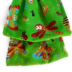 This is 1 face cover reversible with the same pattern on both sides happy insects on both sides