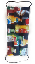 Load image into Gallery viewer, **This is 1 face cover with a reversible pattern: Shamrocks on one side and Beer Bottles on the other.  **This face cover does not guarantee protection from disease.  You must wash before using. Stay safe and be well.