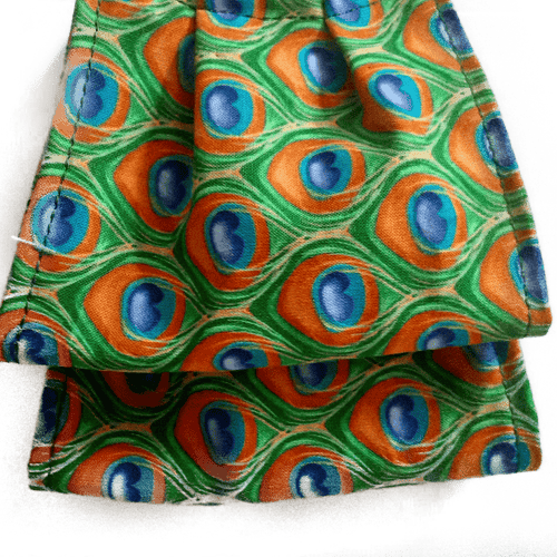 **This is 1 face cover (reversible with the same pattern on both sides): Peacock Pattern on both sides.