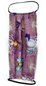 **This is 1 face cover (reversible with the same pattern on both sides): Princess scene on both sides. **Recommended for ages 7 and up - Children should never be left unattended while wearing a face cover. Adult Supervision is Required. **This face cover does not guarantee protection from disease.  You must wash before using. Stay safe and be well.