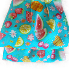 Load image into Gallery viewer, This is 1 face cover (reversible with the same pattern on both sides): Watermelon, Cherries and assorted fruit on both sides.  **This face cover does not guarantee protection from disease.  You must wash before using. Stay safe and be well.