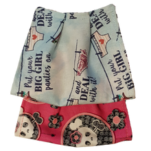"Load image into Gallery viewer, **This is 1 face cover with a reversible pattern: ""put your big girl panties on and deal with it"" saying on one side and Pink with skulls on the other."