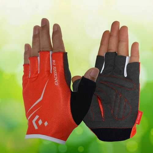 RI SHENG Breathable Cycling Glove Men Women Sports Bike Bicycle Cycling Short Half Finger Gloves