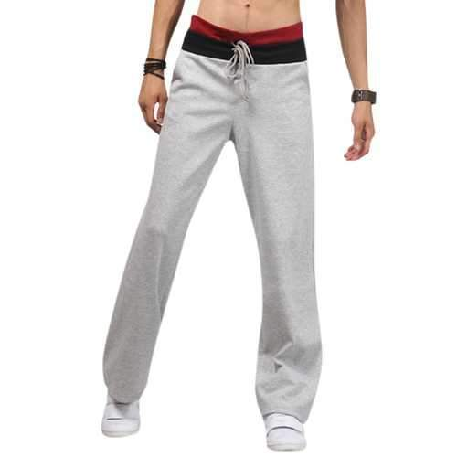 Men's Casual Comfortable Sports Pants Pure Color Fashion Sweatpants Joggers Trousers