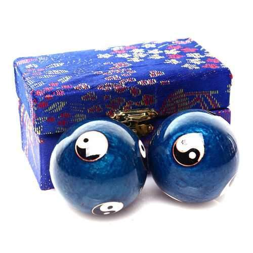 Chinese Health Ball Daily Exercise Stress Relief Handball Therapy Massager Balls
