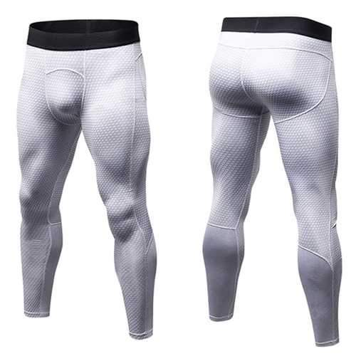 PRO Fitness Quick Dry Stretch Tights Running Trousers Men's Casual 3D Printed Pants