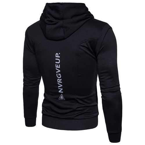 Fashion Zipper Design Stitching Hoodies Sweatshirts
