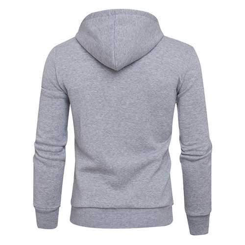 Men's Casual Pure Color Warm Hoodies Fashion Regular Fit Sports Sweatshirt Tops