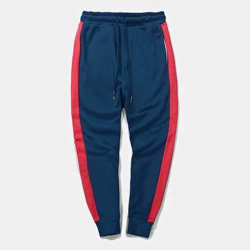 Cotton Fashion Striped Feet Pants Elastic Waist Sports Pants