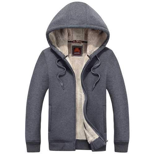 Warm Thick Thermal Hoodies Zip Up Casual Jacket Coat