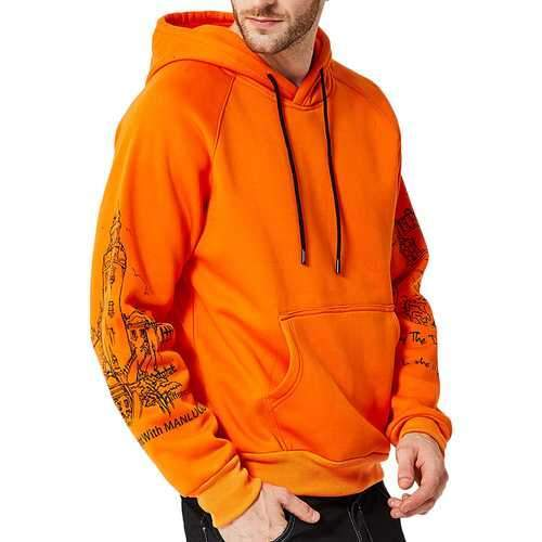 Men's Casual Fashion Printing Hoodies Sweatshirts
