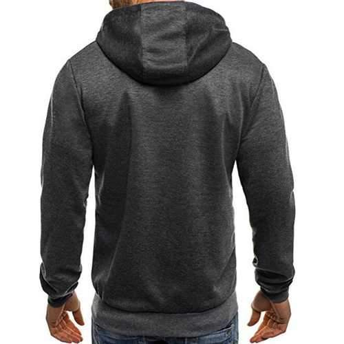 Men's Slim Multi Zipper Decorative Hoodies Sweatshirts