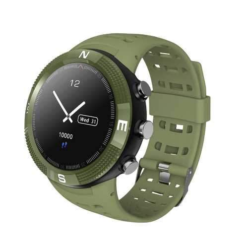 NO.1 F18 GPS 3 Satellites Gobal Positioning System Heart Rate Compass BT 4.2 Sport Smart Watch