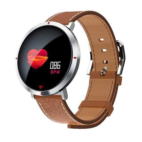Goral S2 Pro Charging Base Heart Rate Monitor Message Reminder Leather Band Metal Boby Smart Watch
