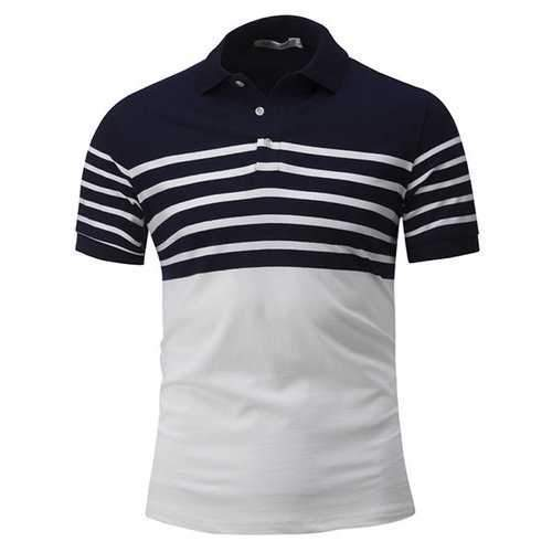 Turn-down Collar Printing Stylish Golf Shirt