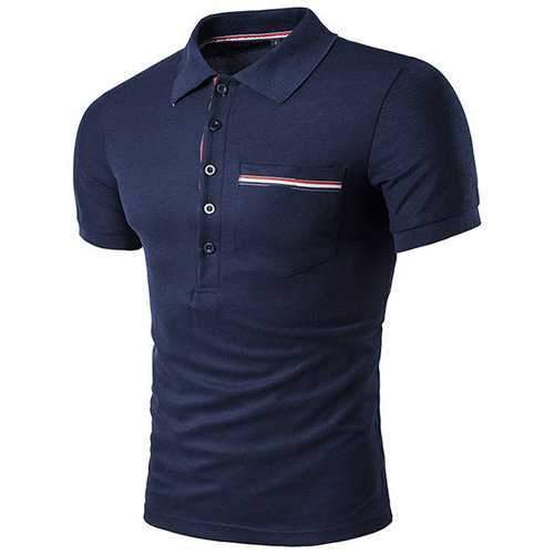 Front Pocket Casual Golf Shirt