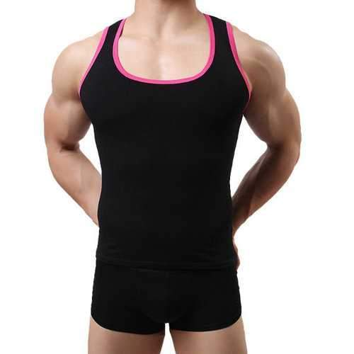 Mens Sexy Fitness Training Tight Vest High-elastic Sleeveless Sport Tank Tops