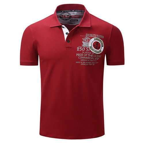 Spring Printed Stylish Breathable Golf Shirt