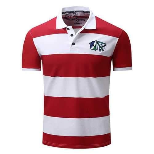 Stripes Pattern Casual Golf Shirts