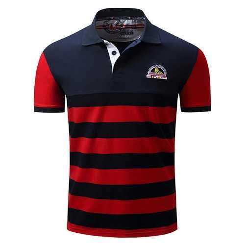 Striped Printed Casual Business Golf Shirts