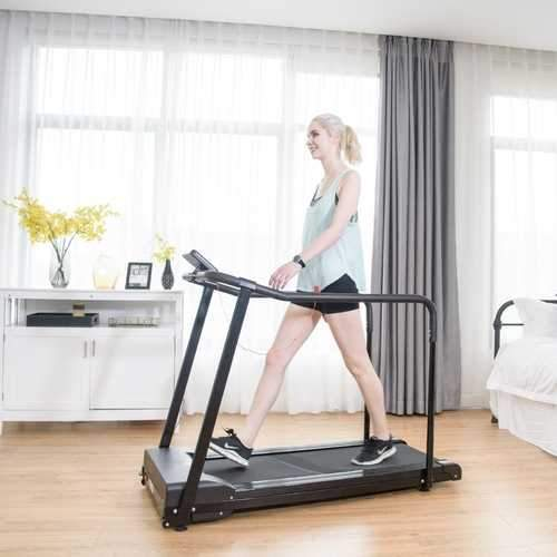 Electric Walking Jogging Treadmill with Extra-long Handles