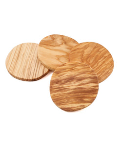 Olive Wood Coaster Set of 4 (Personalize This!)
