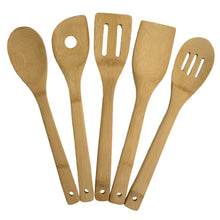Load image into Gallery viewer, Handwritten 5-piece Bamboo Cooking Utensil Set (Personalize This!)