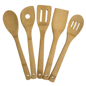 Handwritten 5-piece Bamboo Cooking Utensil Set (Personalize This!)
