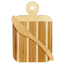 "Load image into Gallery viewer, 9"" Serving and Cutting Board with Spreader Knife Combo Set (Personalize This!)"