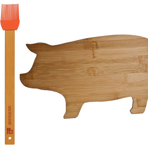 Bamboo Pig Shaped Cutting Board Gift Set (Personalize This!)