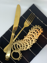 Load image into Gallery viewer, painted gold wood napkin rings
