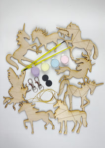 Unicorn Busy Bag, DIY Paint Set of 8