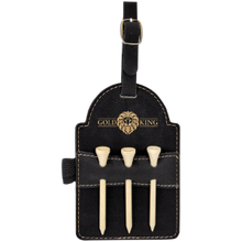Load image into Gallery viewer, Leatherette Golf Bag Tag with 3 Wooden Tees (Personalize This!)