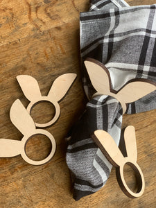 Bunny Ear Napkin Rings, Set of 4