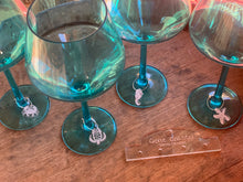 Load image into Gallery viewer, Gone Coastal Wine Charms, Set of 4