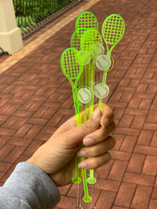 Tennis Themed Drink Stirrers, Set of 10
