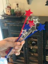 Load image into Gallery viewer, Patriotic Star Drink Stirrers, Set of 10