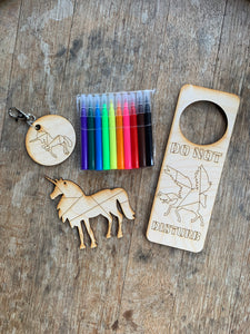 Unicorn DIY Craft Kit, 3 piece with markers