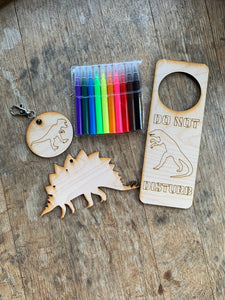Dinosaur DIY Craft Kit, 3 piece with markers