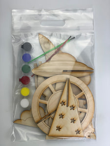 Space Busy Bag, 3D DIY Wood paint kits